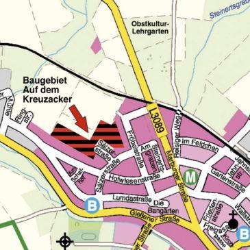 Baugebiet »Auf dem Kreuzacker« in Rabenau-Londorf
